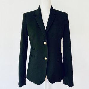 J Crew size 8 black boyfriend jacket